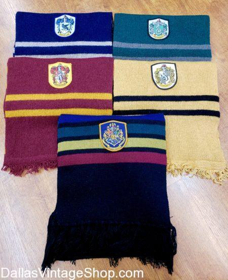 Harry Potter Gryffindor Scarf, Hufflepuff Scarf, Ravenclaw Scarf, and Slytherin Scarf house Official Harry Potter Scarves