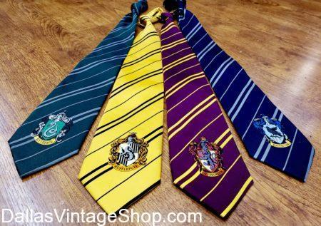 Harry Potter, Gryffindor, Hufflepuff, Ravenclaw, and Slytherin Harry Potter Ties