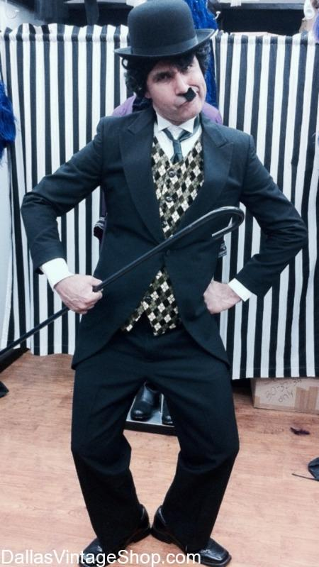 We Stock Charlie Chaplin Show Biz Costume, Silent Movie Hollywood Stars Show Biz Costumes, Theatrical Show Biz Characters, Show Biz and Magic Show Costumes, Hollywood Movie Star Show Biz Costumes, Charlie Chaplin British Show Biz Character Outfit, Show Biz Attire, Show Biz Men's Hats, Famous Show Biz Characters Attire,