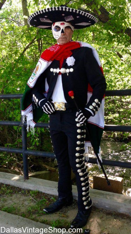 We have Day of the Dead Mariachi Costume, Supreme Quality Dia de los Muertos Men's Costumes in Stock. We also have Day of the Dead, Day of the Dead Costumes, Quality Day of the Dead Attire, Day of the Dead Makeup, Day of the Dead Masks, Day of the Dead Skeleton Suits, Day of the Dead Sombreros, Day of the Dead Panchos, Day of the Dead Serapis, Day of the Dead Mens Tailcoats, Day of the Dead Ascots & Cravats, Day of the Dead Formal Attire, Day of the Dead Mens Costumes and Accessories