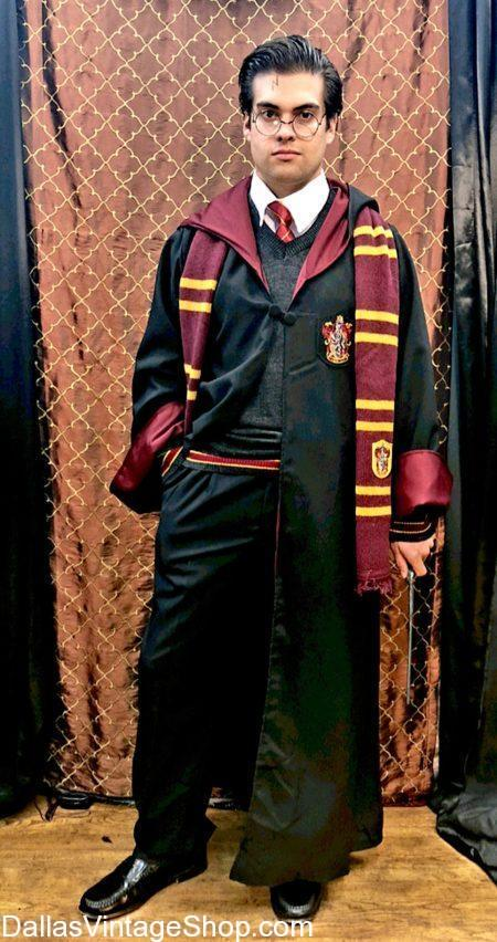 We have this Harry Potter HARRY POTTER CHARACTER COMPLETE OUTFIT and Harry Potter Supreme Quality Costume, Gryffindor House Robes, Gryffindor Sweaters, All Hogwarts House Pull Over Sweaters, Harry Potter Outfits. Get Harry Potter Movie Scarves &Ties, Ravenclay Bow Ties, Hufflepuff Sweaters, Harry Potter Wands. We have Harry Potty Glasses Potter, Slytherin Beannies Harry Potter Characters Hats, Harry Potter Broomstick & Accessories are in stock.Supreme Quality Costume, Gryffindor Robe & Accessories