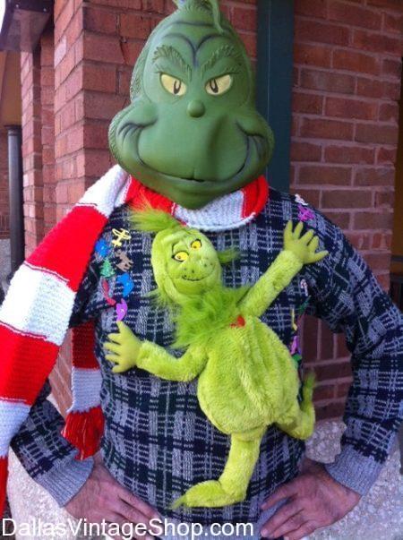 Grinch Mask, Grinch Costume, Adult Grinch Mask, Adult Grinch Outfit, Alien Mask, Alien Halloween, Halloween Mask, Halloween 2018, Licensed Grinch, Official Grinch Mask