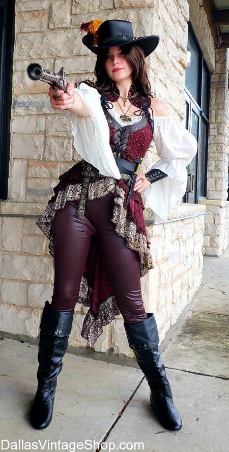 Dangerous Pirate Ladies, Pirate Lady, Pirate Swords, Pirate Guns, Pirate boots, Pirate Hats