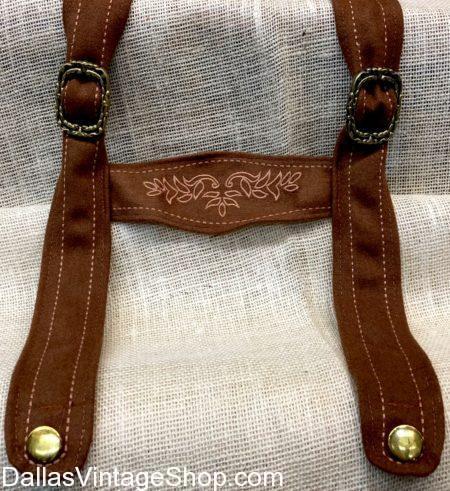 Ornate Suede Suspenders for German Fest, Suede Suspenders, Suspenders, Alpine Suspenders, Lederhosen Suspenders