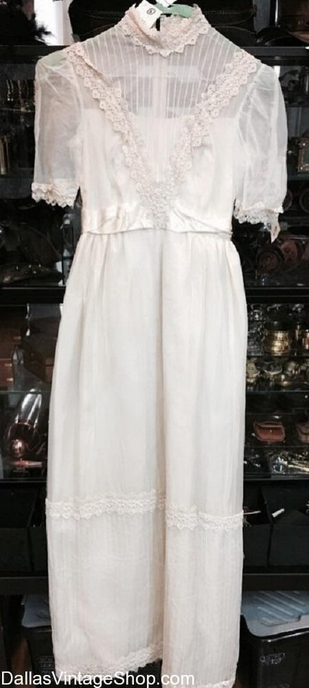 Wedding Dresses Used Dallas Vintage Clothing Costume Shop Look at her walking around in that dress two sizes too small for her. wedding dresses used dallas vintage