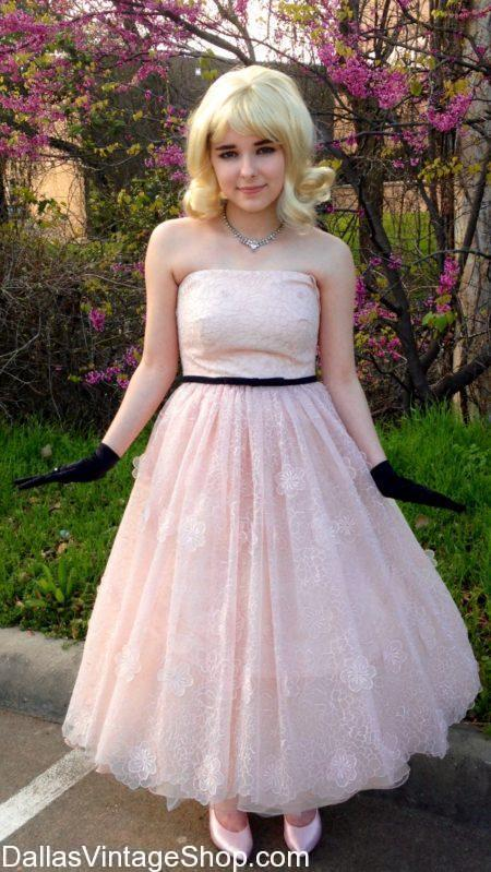 We have Dallas' Largest 1950's Prom Dress Collection, 50's Fashion Selection & 50's Costumes Sho;p. Get 1950's Prom Dresses, 1950's Costumes, 1950's Vintage Dresses, 1950's Era Attire, 1950's Formal Dresses, 1950's Tea Length Dresses, 1950's High Quality Dresses, 1950's Homecoming Dresses, 1950'sVery Nice Prom Dresses, 1950's Fancy Dresses, 1950's Classic Dresses, 1950's Proper attire, 1950's Theatrical Costumes, 1950's Clothing & Accessories, 1950's Fashions, 1950's Iconic Fashions and Accessories in stock.