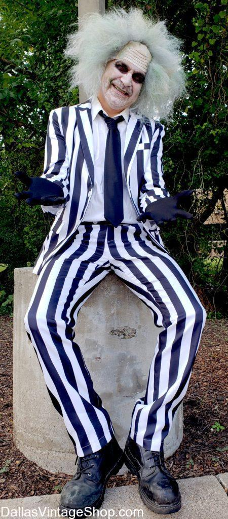 Get Cult Classic Movie Costumes, Beetlejuice Black & White Stripe Suit Shown here. We have the following Cult Classic Costumes, Cult Classic Movie Beetlejuice Black & White Stripe Suit, Cult Classic Beetlejuice Movie Costumes, Best Cult Classic Movie Costumes, Tim Burton Cult Classic Movie Characters Costumes, Best Cult Classic Movies, Cult Classic Movie Costume Ideas, Best Cult Classic Movies, Tim Burton Cult Classic Movie Characters outfits & Accessories.