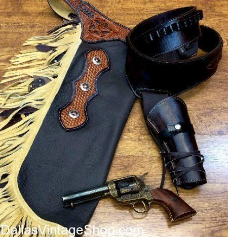 Get these good looking Cowboy Chaps, Chinks, Cowbly Replica Pistols, Cowboy Gun Belts & Holsters, Cowboy Attire and Cowboy Accessories shown here and all are in stock. We also have Cowboy Outfits, Supreme Quality Cowboy Chaps, Cowboy Chinks, Replica Cowboy Pistols, Cowboy Gun Belts & Holsters, Reproduction Old West Cowboy Attire, Theatrical Cowboy Costumes, Cowboy Western Reenactment Outfitters, Outdoor Cowboy Festivals, Historical Cowboy Characters, Cowboy Fancy Chinks & Chaps, Real Leather Chaps, Fringe Leather Cowboy Chaps, Suede Cowboy Chaps, Embossed and Stamped Leather Chaps, Decorative Trim Cowboy Chaps, Leather Cowboy Vests, Old West Historical Cowboys, Cowboy Sheriffs, Cowboy Gunslingers, Working Cowboys, Wild West Cattle Drive Cowboys, Cowboy Gun Belts & Holsters, Old West Cowboys, Working Cowboys, Drifter Cowboys, Bronc Buster Cowboys and Old West Cowboy Movie Characters, Cowboy Costumes, Cowboy Attire, Cowboy Replica Pistols, Cowboy Outlaws, Cowboy Lawmen, Cowboy Legends, Cowboy Outlaw Gangs Outfits & Costumes.