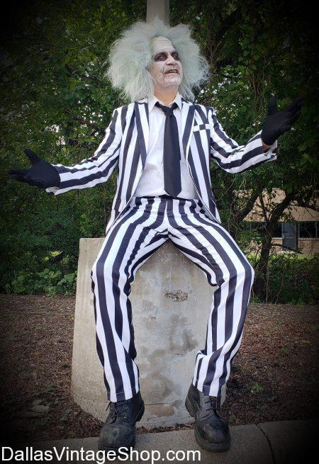 What are HALLOWEEN DFW LARGEST COSTUME SHOPS: Dallas Vintage Shop has this Beetlejuice Popular Costume and ten thousand more Halloween Costumes in Stock. We are HALLOWEEN DFW LARGEST COSTUME SHOPS, Huge Halloween Costume Shops, Halloween Costumes, Unique Halloween Costumes, Halloween Costume Makeup, Halloween Costume Wigs, Halloween Shops, Halloween Shops with Beetlejuice, Best Halloween Costume Shop DFW, Dallas Largest Halloween Costume Shop. Largest Selection Halloween Costume Shop, Halloween Costume Ideas.