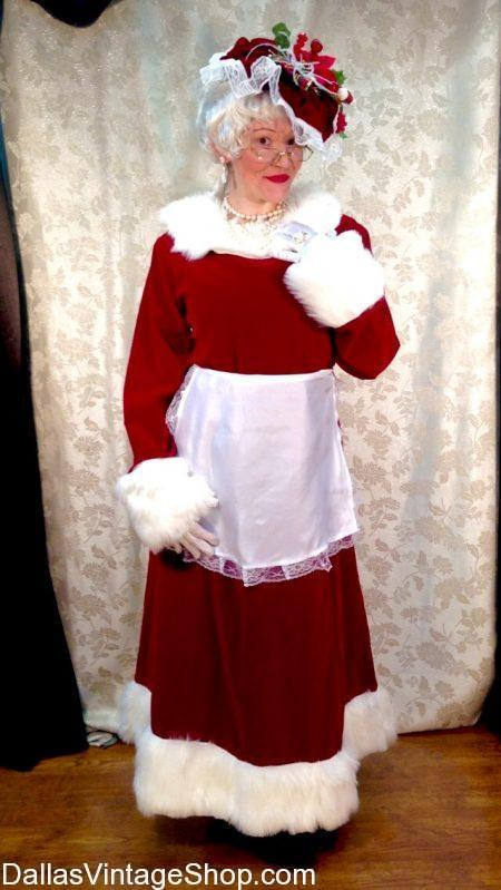 Dallas Vintage  Shop has the Best Mrs. Clause Costume Selection, Quality Mrs. Clause Wigs & Costume Accessories.  Get Mrs. Clause Costume,, Mrs. Clause Costume Selection, Quality Mrs. Clause Dresses, Mrs Clause Quality Mrs. Clause Wigs, Mrs. Clause Aprons, Mrs. Clause Gloves, Mrs. Clause Glasses, Mrs. Clause Shoulder Wraps, Mrs. Clause Shawls, Mrs. Clause Shoes, Mrs. Clause Hats, Mrs. Clause sleeping Gowns, Mrs. Clause  Jewelry, Mrs. Clause Broaches, Mrs. Clause Costume Accessories, Mrs. Clause Christmas Costumes in stock now.