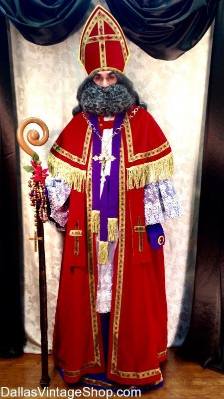 Our Dallas Christmas Costume Shop has this St. Nicholas Costume, this German Santa Clause Costume and many Elaborate Santa Costumes. We also have St. Nicholas, St. Nicholas Costume, St. Nicholas Traditional Costume, St. Nicholas German Santa Clause, St. Nicholas Liturgical Costume, St. Nicholas Elaborate Costume, St. Nicholas Christmas Tradition Costume, St. Nicholas Eastern Christianity Costume, St. Nicholas Catholic Santa Costume, St. Nicholas Mitre, St. Nicholas Staff, St. Nicholas Liturgical Robe Costume, St. Nicholas Attire and Accessories in stock.