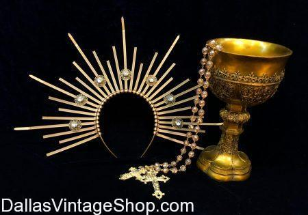 Get Biblical Halo Crowns, Historical Clergy Halos, Met Gala Celebrity Headresses, Heavenly Bodies Red Carpet Head Gear, Iconic Religious Aura Crowns, Catholic Saints Halo Headdresses, Bible Character Costume Halos and Renaissance Biblical Painting Aura Crowns in Stock at Dallas Vintage Shop.  We have these Biblical Halo Crowns, Heavenly Bodies 2018 Met Gala Halos, Crowns & Headdresses for Red Carpet Celebrity Outfits, Hollywood Red Carpet Celebrity Attire, Biblical Pageant Halo Costumes, Church Historical Saints and Clergy Crowns, Iconic Saints Halo Costumes, Gold Biblical Halo Crowns, Metallic Gold Halo Headpieces, Rhinestone Met Gala Headdresses, Elaborate Heavenly Bodies Red Carpet Celebrity Crowns, Met Gala 2018 Celebrity  Halos, Heavenly Bodies Iconic Catholic Saint Halos, Catholic Church Clergy Headdresses, Decorated Halo Crowns, Bible Character Halos, Church Icons Headdresses, Biblical Painting Halos,  Biblical Characters Fancy Halo Crowns, Met Gala Celeb Recreation Headpieces, Met Gala Celeb Outfits, Hollywood Red Carpet Celeb Head Gear and Met Gala Theme Party Attire also in stock.