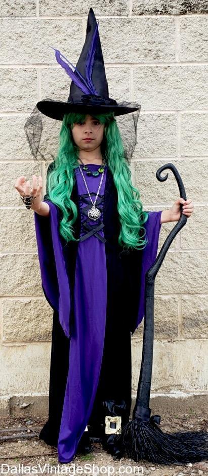Unforgettably Cute Child Witch Costume Get Witch Dresses Hats Wigs