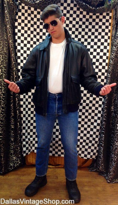 This Fonzie Outfit is the Sock Hop Costume. We have Sock Hop 50's Costumes, Sock Hop Men & Ladies Attire, Sock Hop Sunglasses, Wigs, Leather Biker Jackets, Fake Cigarettes, Penny Loafers and more Sock Hop Costume Accessories than you can imagine. We have Sock Hop Costume, Sock Hop Costume Ideas, Fonzie Sock Hop Costume, Sock Hop Greaser Costumes, 50's Sock Hop Costumes, Grease Sock Hop Costumes, Danny Sock Hop Costume, T-birds Sock Hop Costume, Sock Hop Biker Jackets, Sock Hop Wayfarer Sunglasses, Sock Hop Pompadour Wigs, Sock Hop Rock & Roll Costumes, 50's Penny Loafers, Sock Hop Movie Character Costumes, Sock Hop Costume Accessories in stock.