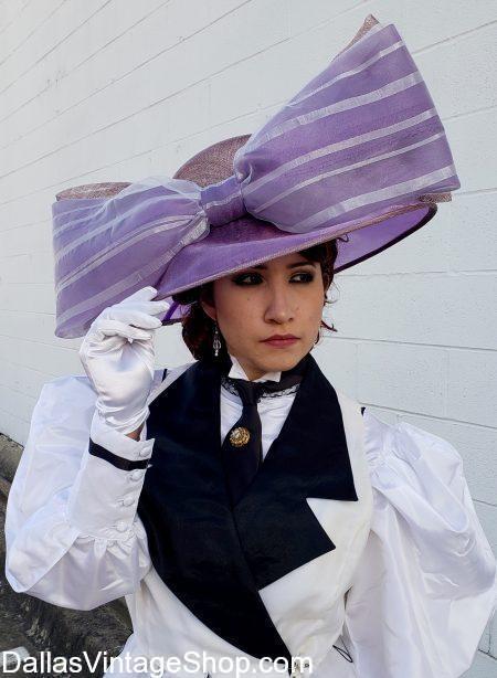 Large Selection Titanic Era Hats, Rose Dawson, Titanic Kate Winslet Costume, Edwardian Titanic Hats & Clothing and Kate Winslet Titanic Character Attire in stock.