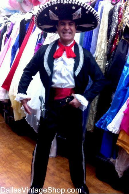Get this Three Amigos Costume, Steve Martin Movie Character Outfits, Mexican Matador Costumes, Mexican Mariachi Attire, Sombreros and Mexican Folkloric Festival Coatumes at Dallas Vintage Shop.