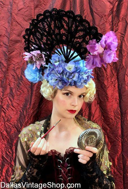 Get Iconic Hollywood Ladies Hats, Marlene Dietrich Costumes and Hats, Hollywood Movie Starlet Costumes & Hats, Golden Ace of Hollywood Hats and Mad Hatter's Tea Hats at Dallas Vintage Shop