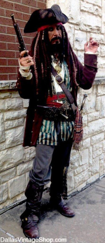 Providing Hillsborough Costumes for Theatrical, Masquerade, Historical & School Project including this Jack Sparrow costume.