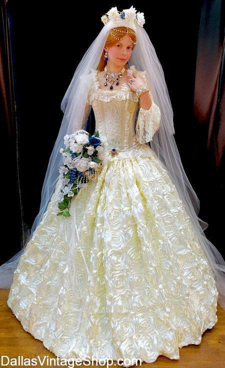 Renaissance Royalty Gowns, like this Renaissance Festival Royal Wedding Gown is in stock. We provide Renaissance Dresses for all Dallas area evnets.