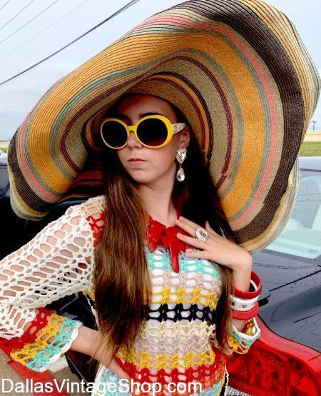 Get Beach Hats, Sun Hats, Floppy Hats, Summer Hats and many other Large Brim Beach Hats at Dallas Vintage Shop.