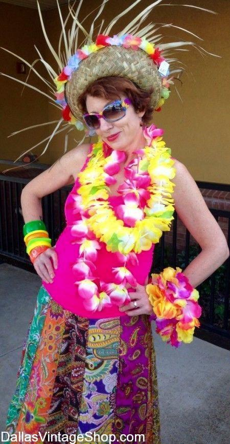 Jimmy Buffett Tropical Attire for ladies and men are available at Dallas Vintage Shop