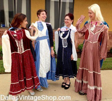 Look at these 70's Gunne Sack Dresses, which are in stock at Dallas Vintage Shop.