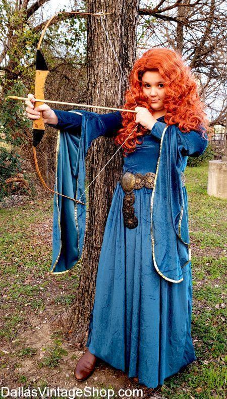 You can get Princess Child Costumes like this Excellent Princess Merida Girls Costume from Brave.