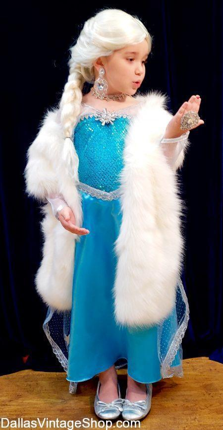 Get Girls Princess Costumes, Little Girls Queen Elsa Costumes, Children's Frozen Characters Costumes, Disney Princesses Dresses and Princess Accessories from Dallas Vintage Shop.