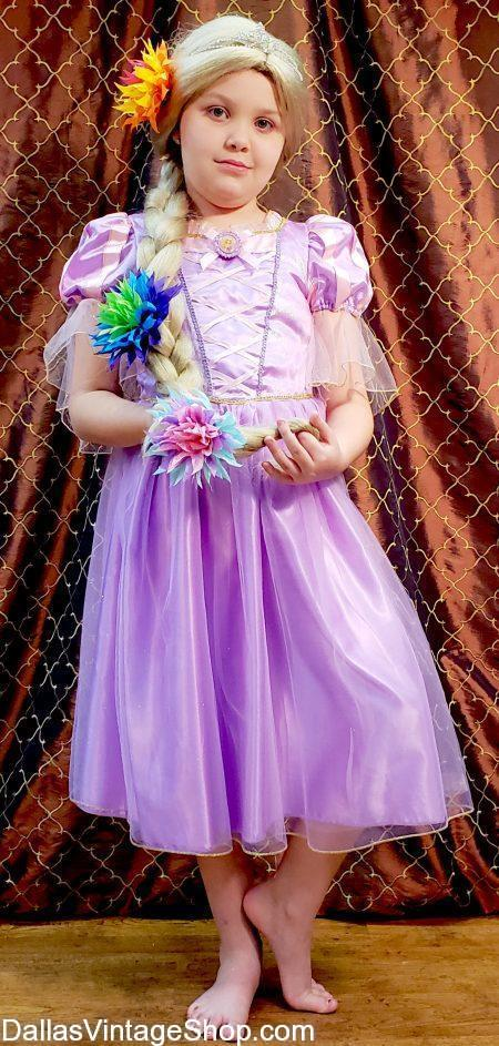 This Little Girls Rapunzel, Princess Costume is one of the Girls Princess Costumes in our Huge Collection of Disney Princesses.