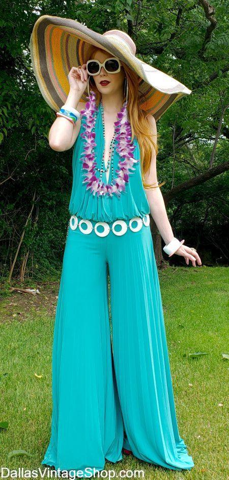 Lavish Luau Costumes, Elegant Luau Attire, Best Luau Costumes, Hawaiian Luau Attire & Tropical Luau Theme Party Outfits are in stock at Dallas Vintage Shop.