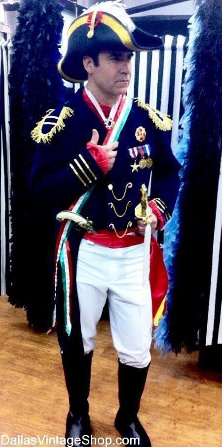 Get Mexican Historical Costumes for Theatrical, Film, Historical  Productions &  School Project Costumes.