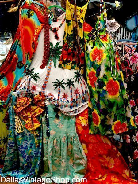 An Enormous Collection Tropical Vintage Clothing Awaits you at Dallas Vintage Shop.