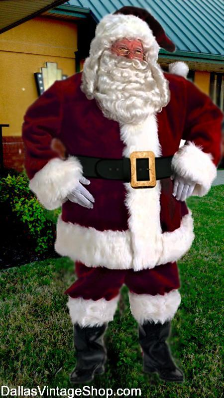 Professional Santa Suits, Majestic Santa Suit, Ultra Supreme Santa Outfits are in stock at Dallas Vintage Shop