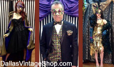 Mardi Gras Gala Attire is at Dallas Vintage Shop.