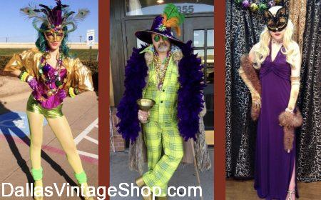 Mardi Gras Pub Crawl & Club Scene Costumes from Dallas Vintage Shop.