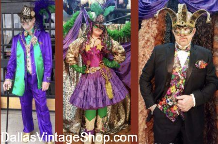 Mardi Gras Party Costumes are unlimited at Dallas Vintage Shop.