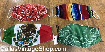 Coronavirus Mask Cinco de Mayo, Cinco de Mayo Covid 19 Cloth Masks in stock at Dallas Vintage Shop