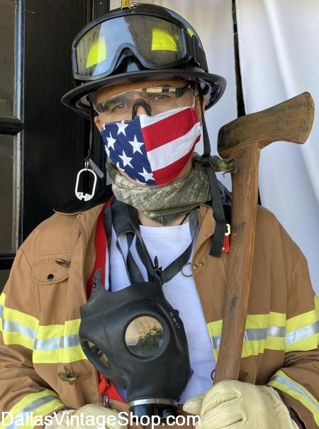 Face Masks, CDC Face Mask Recommendations, Coronavirus Face Masks like this American Flag Face Mask and other Cool Face Masks are at Dallas Vintage Shop.