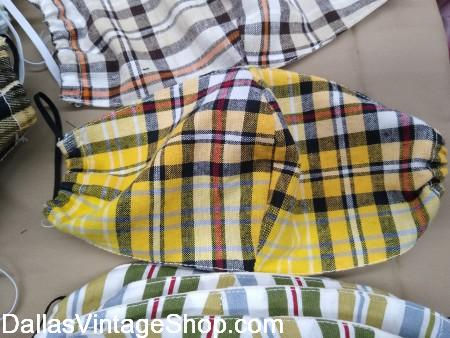 Yellow and Brown Plaid face mask