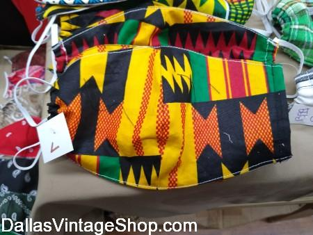 African Print Face Coverings