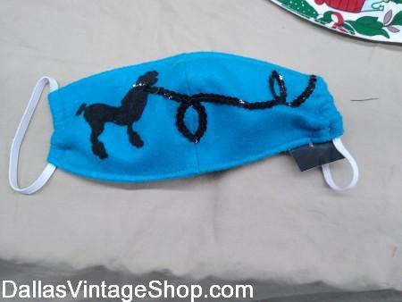 Blue 1950's Sockhop Mask