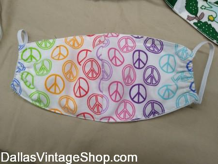 Designer Peace Sign Face Covering