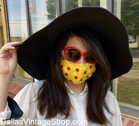 Designer Face Masks, Get Face Masks in many fabulous designs, Huge Selection stylish Face Masks at Dallas Vintage Shop.