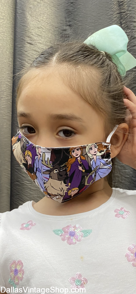 Girls Cloth Face Masks, Covid 19 Girls Cute Face Masks, Girls Themed Face Masks, Princess Elsa Face Mask plus many more are at Dallas Vintage Shop.