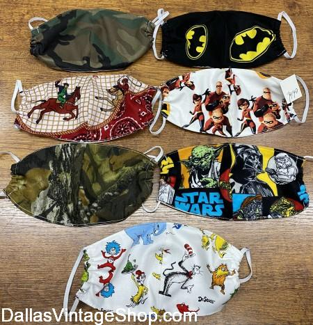 Boys Face Masks, Boys Covid 19 Face Masks, Boys Cool Face Mask are at Dallas Vintage Shop.