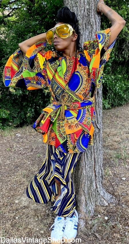 African Clothing, African Fashions, African Style Clothing & African Costumes are at Dallas Vintage Shop.