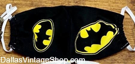 Children's Cloth Masks, Child Batman Cloth Face Masks, Children's Cloth Face Coverings for sale at Dallas Vintage Shop.