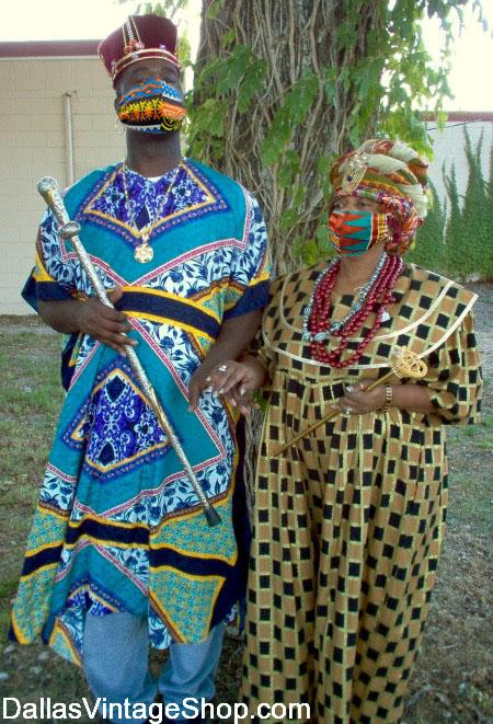 African Attire, African Clothing, African Fashions & African Costumes for African Festivals are at Dallas Vintage Shop.