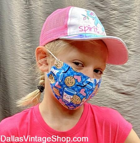 Student Face Mask Requirements, Covid 19 School Face Mask Rules, School Reopening Face Mask Mandates are no problem because Dallas Vintage Shop has Cloth Face Masks Kids will love to wear.