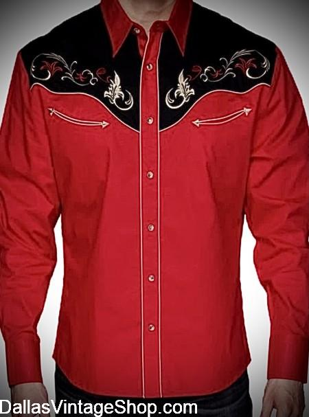 Get Embroidered Pearl Snap Shirts, from our Huge Selection of Embroidered Western Pearl Snap Shirts, Embroidered Vintage Rodeo Shirts and Embroidered Pearl Snap Rockabilly Shirts from Dallas Vintage Shop.